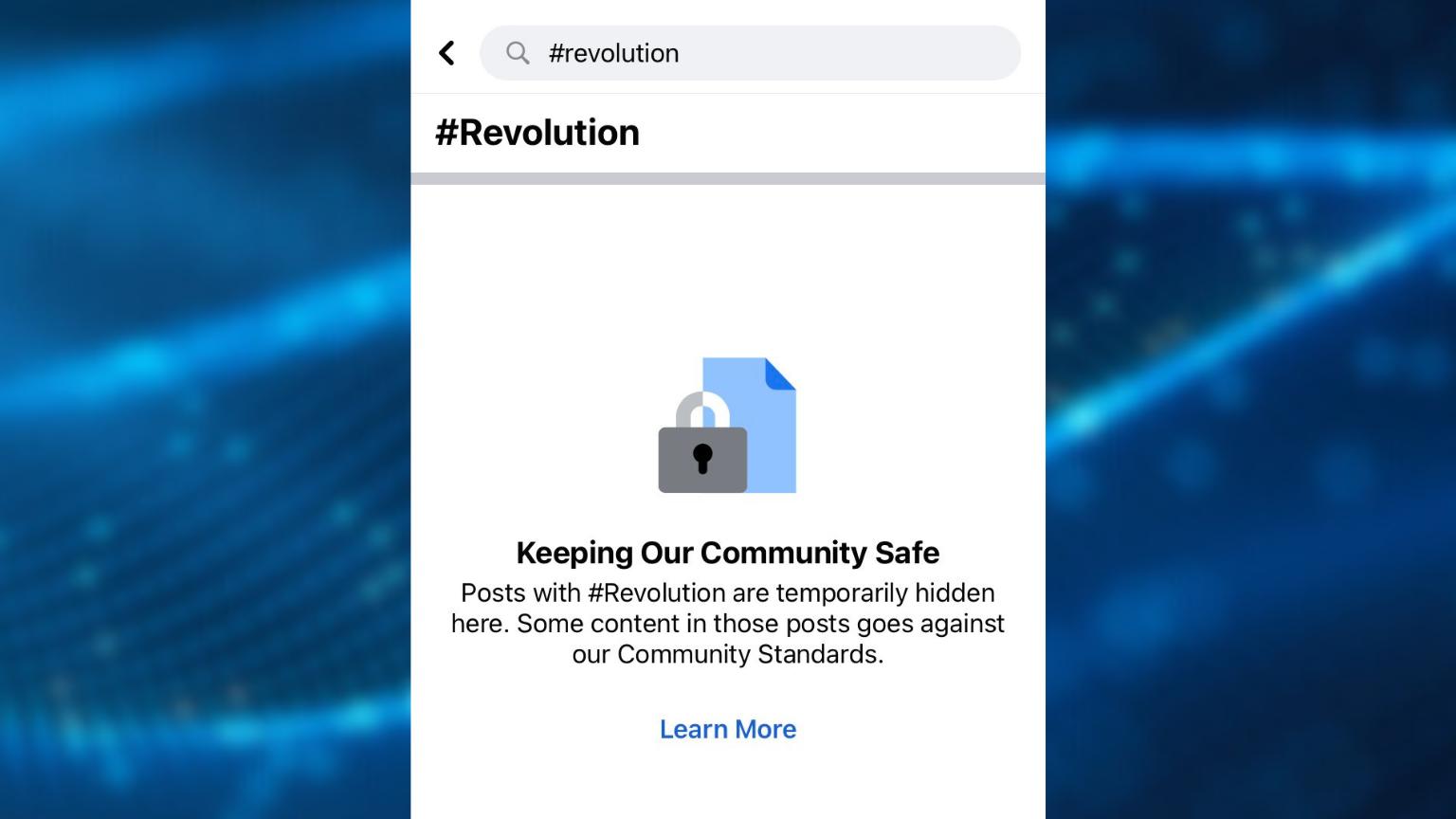 Facebook blocks #Revolution hashtag on July 4th weekend